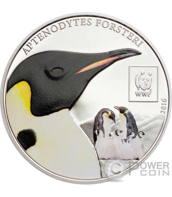 EMPEROR PENGUIN WWF World Wildlife Fund Münze 100 Shillings Tanzania 2016