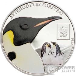 EMPEROR PENGUIN WWF World Wildlife Fund Coin 100 Shillings Tanzania 2016