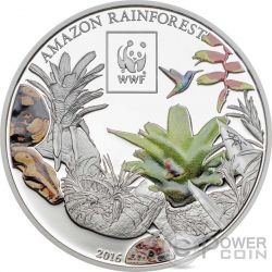 AMAZON RAINFOREST WWF World Wildlife Fund Münze 100 Shillings Tanzania 2016