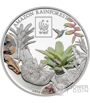 AMAZON RAINFOREST WWF World Wildlife Fund Coin 100 Shillings Tanzania 2016