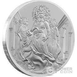GORGON Creatures of Greek Mythology 1 Oz Silver Coin 2$ Niue 2016