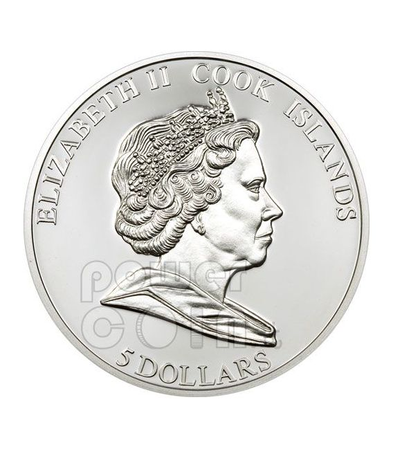 CRISTO REI Lisbona 50 Anniversario Moneta Argento 5$ Cook Islands 2009