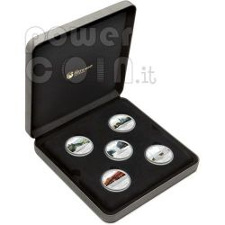 GREAT RIVER JOURNEYS 5 Silver Coin Set 1$ Tuvalu 2010