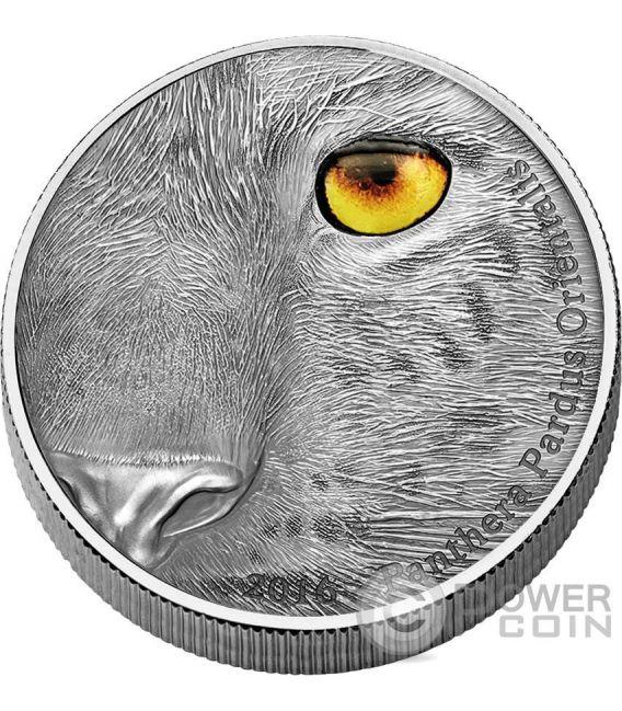 AMUR LEOPARD Panthera Pardus Orientalis Natures Eyes 1Kg Kilo Silver Coin 10000 Francs Congo 2016
