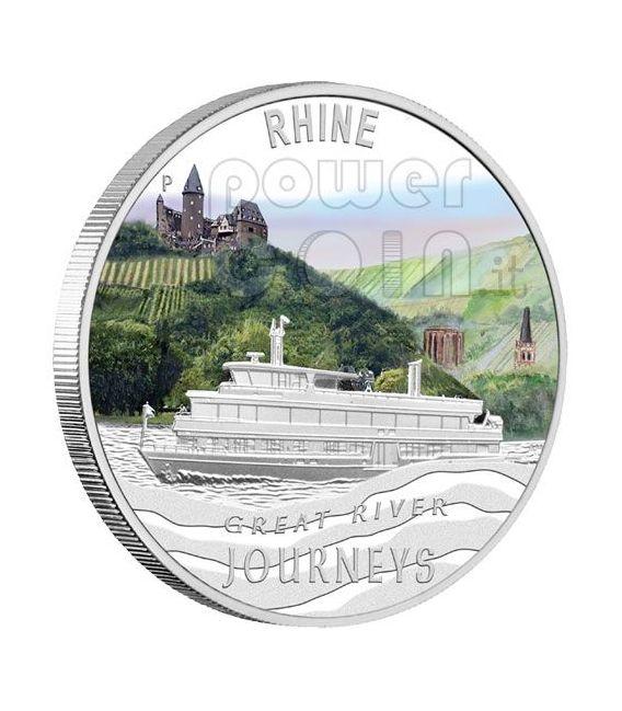 GRANDI FIUMI DEL MONDO Great Rivers Set 5 Monete Argento 1$ Tuvalu 2010