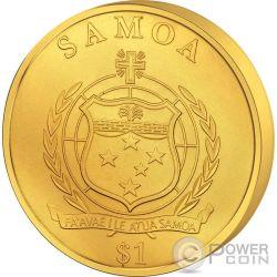 MARS FLOATING COIN 50 Anniversario Missione Marte Moneta Fluttuante 1$ Samoa 2014