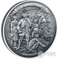 DAVID LIVINGSTONE Journeys Of Discovery 2 Oz Silver Coin 5$ Niue 2016