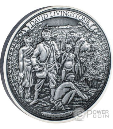 DAVID LIVINGSTONE Journeys Of Discovery 2 Oz Moneta Argento 5$ Niue 2016