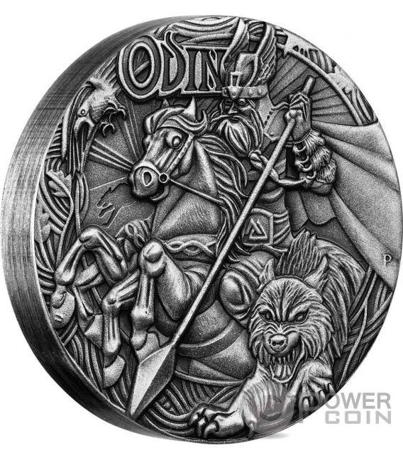 ODIN Norse Gods Odino Re King Of Asgard 2 Oz Moneta Argento 2$ Tuvalu 2016