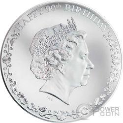 QUEEN ELIZABETH II Regina Elisabetta 90 Compleanno Moneta Argento 20$ Cook Islands 2016