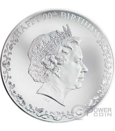 QUEEN ELIZABETH II Happy 90th Birthday Silver Coin 20$ Cook Islands 2016