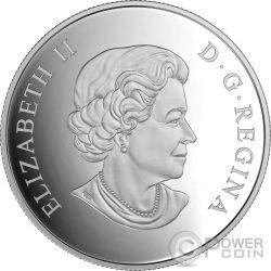 CARIBOU Geometry In Art Dimensional Design Silber Münze 20$ Canada 2016