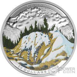 MOUNTAIN GOAT Capra Landscape Illusion Illusione Moneta Argento 20$ Canada 2016
