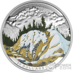 MOUNTAIN GOAT Landscape Illusion Silver Coin 20$ Canada 2016
