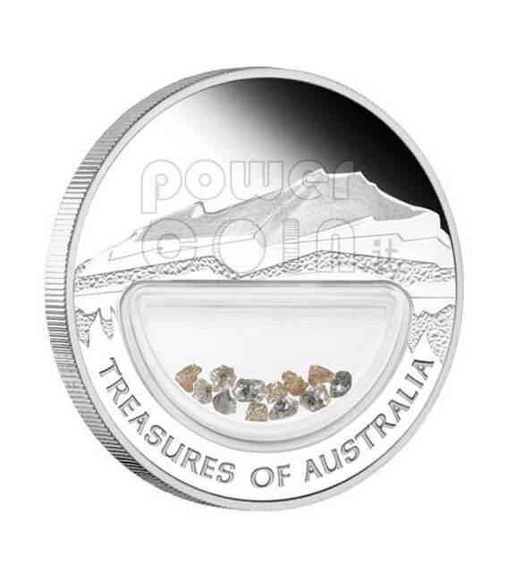 DIAMANTI Treasures Of Australia Diamonds Moneta Argento 1$ 2009