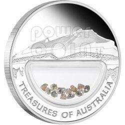 DIAMONDS Treasures Of Australia Silver Proof Locket Coin 1$ 2009