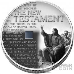NEW TESTAMENT Nano Bible II Chip 1 Oz Moneda Plata 1000 Francs Burkina Faso 2016