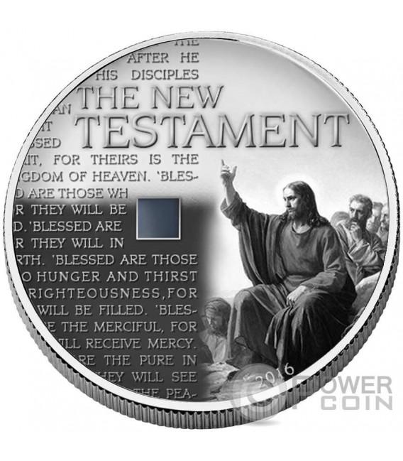 NEW TESTAMENT Nuovo Testamento Bibbia Nano Bible II Chip 1 Oz Moneta Argento 1000 Franchi Burkina Faso 2016