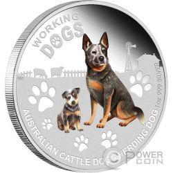 CATTLE DOG Herding Working Dogs Silber Münze 1$ Tuvalu 2011