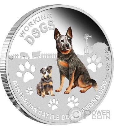 CATTLE DOG Cane Working Dogs Moneta Argento 1$ Tuvalu 2011