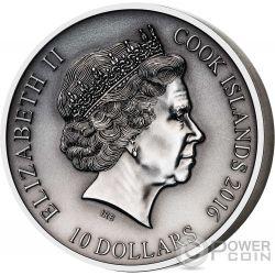 HEIMDALL Norse Gods High Relief 2 Oz Silber Münze 10$ Cook Islands 2016