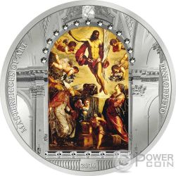 RESURRECTION OF JESUS Tintoretto Easter Edition 3 Oz Silver Coin 20$ Cook Islands 2016