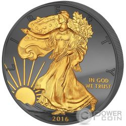 GOLDEN ENIGMA Walking Liberty 30 Anniversario Premium Edition Moneta Argento 1$ Dollar US Mint 2016