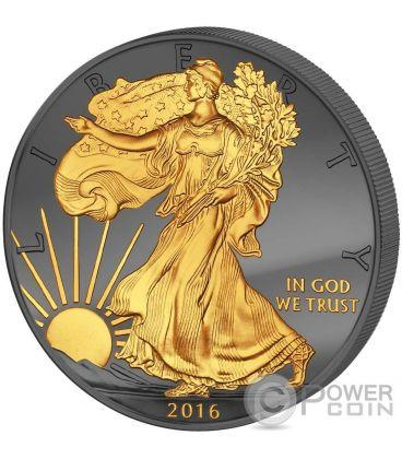 GOLDEN ENIGMA Walking Liberty 30 Anniversario Premium Edition Moneta Argento 1$ Dollar US Mint 2016