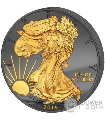 GOLDEN ENIGMA Walking Liberty 30 Years Eagle Premium Edition 1 Oz Silver Coin 1$ Dollar US Mint 2016