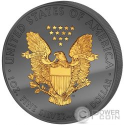 GOLDEN ENIGMA Walking Liberty 30 Anniversario Premium Edition Moneta Argento 1$ Dollar USA 2016