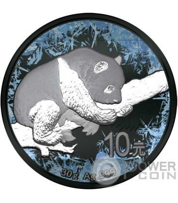 CHINESE PANDA Deep Frozen Edition Silver Coin 10 Yuan China 2016