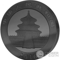CHINESE PANDA Deep Frozen Edition Silver Coin 10 Yuan China 2016