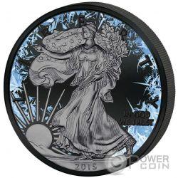 WALKING LIBERTY Deep Frozen Edition 1 Oz Moneda Plata 1$ Dollar USA 2016