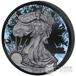 WALKING LIBERTY Deep Frozen Edition 1 Oz Silver Coin 1$ Dollar US Mint 2016