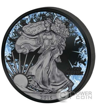 WALKING LIBERTY Deep Frozen Edition 1 Oz Moneta Argento 1$ Dollaro US Mint 2016