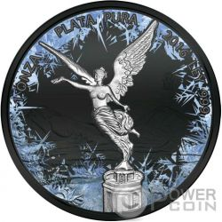 LIBERTAD Deep Frozen Edition 1 Oz Silver Coin Mexico 2016
