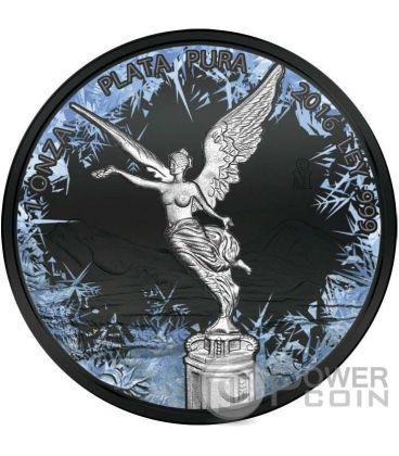 LIBERTAD Deep Frozen Edition 1 Oz Moneta Argento Messico 2016