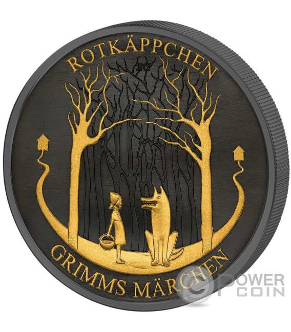 LITTLE RED RIDING HOOD Rotkappchen Grimms Marchen Golden Enigma Silver Coin 20€ Euro Germany 2016