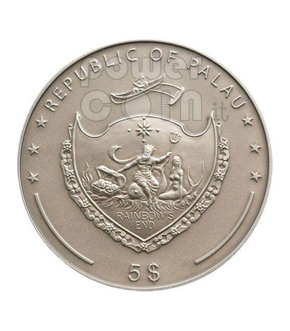 EMERALDS Teasures Of The World Silber Münze 5$ Palau 2009