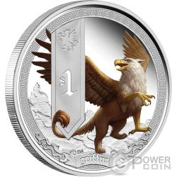 GRIFFIN Mythical Creatures Silver Proof Coin 1 Oz 1$ Tuvalu 2013