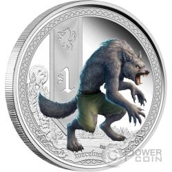 WEREWOLF Mythical Creatures Silver Proof Coin 1 Oz 1$ Tuvalu 2013