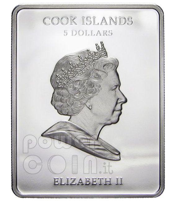 LEONARDO DA VINCI Dama Con Ermellino Moneta Argento 5$ Cook Islands 2009