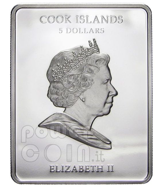 LEONARDO DA VINCI Lady With Ermine Silver Coin 5$ Cook Islands 2009