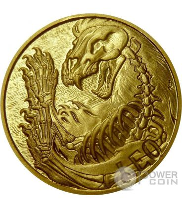 LEO Memento Mori Zodiac Skull Horoscope Gold Coin 2015