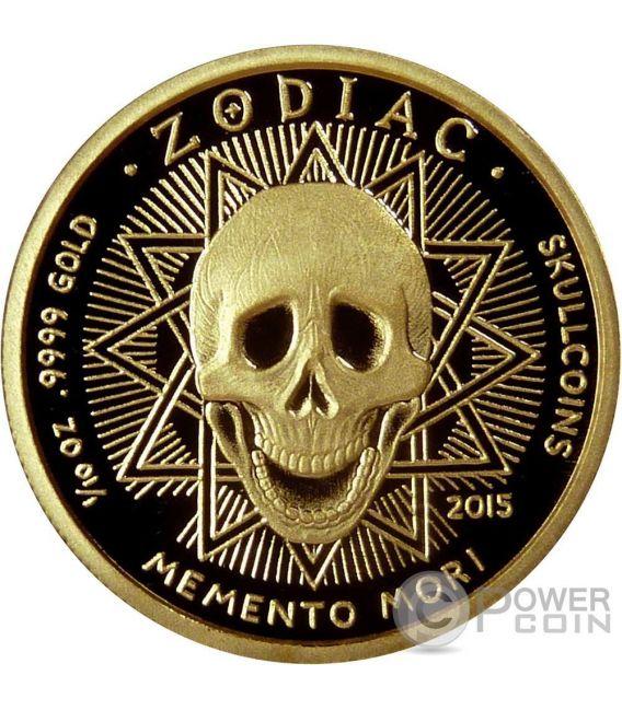 LEONE Memento Mori Zodiaco Oroscopo Moneta Oro 2015