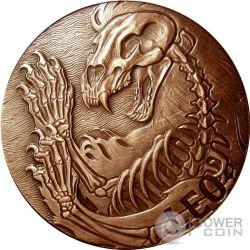 LEO Memento Mori Zodiac Skull Horoscope Copper Moneda 2015