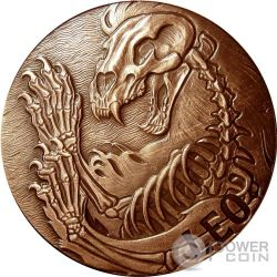 LEO Memento Mori Zodiac Skull Horoscope Copper Münze 2015