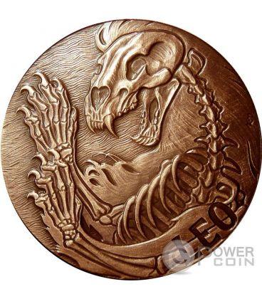 LEO Memento Mori Zodiac Skull Horoscope Copper Coin 2015