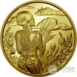VIRGO Memento Mori Zodiac Skull Horoscope Gold Münze 2015