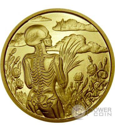 VERGINE Memento Mori Zodiaco Oroscopo Moneta Oro 2015